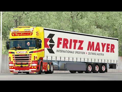 ETS2 1.28 ProMods 2.18 Scania R520  Nice - Amsterdam