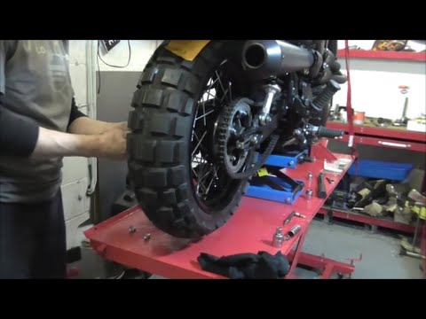 Delboys Garage Triumph Scrambler Fat Wheels Walkround Youtube