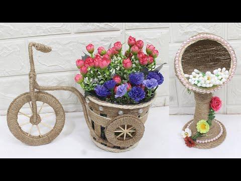 5 Jute craft ideas | Home decorating ideas handmade | 2020