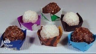 Как сделать вазу для конфеты из бумаги. Красивая сервировка стола.