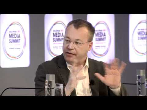 Stephen Elop, Nokia talks with Geoff Cutmore, CNBC, Abu Dhabi Media Summit 2011