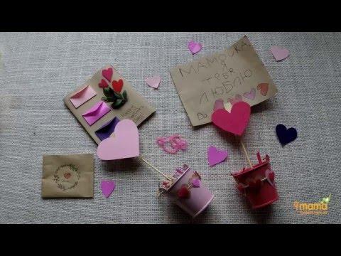 Как сделать подставку для фото или открытки на 14 февраля