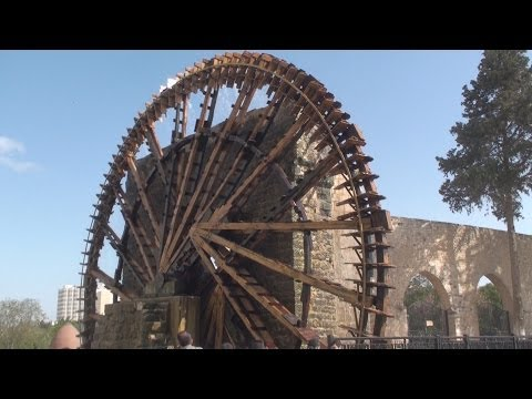Waterwheel Norias of Hama نواعير حماة in Syria سوريا‎