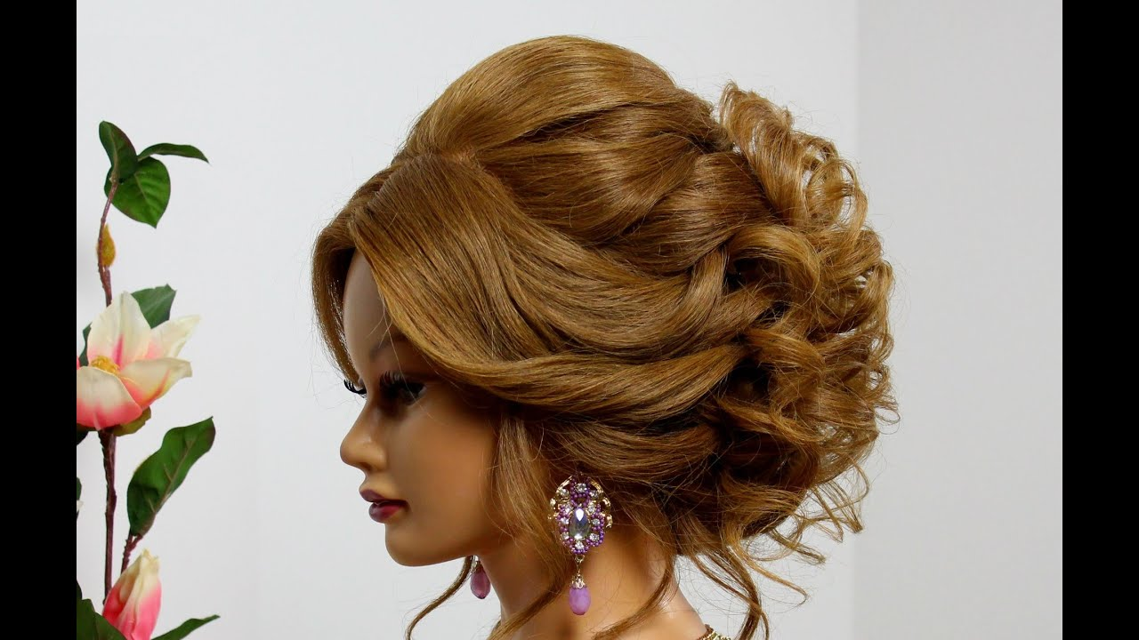 Bridal hairstyle for long medium hair Wedding prom updo