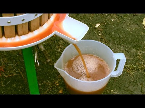 How to Easily make Apple Juice in a Press