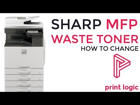 How To Change A Sharp Photocopier Waste Toner | Guide