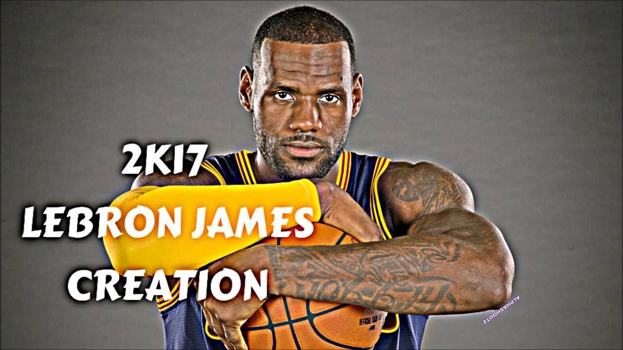 fe0c3bdb65fd6 NBA 2K17 HOW TO CREATE LEBRON JAMES MYPLAYER FACE SCULPTING - YouTube