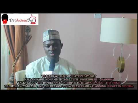 MALLAM KABIR MOHAMMED (State team leader NURHI II, Kaduna) calls out for increase in FP Budget