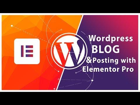 How to create a custom blog template in wordpress