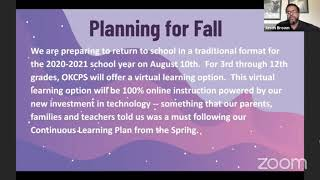 Oklahoma City Public Schools Back to School Plan