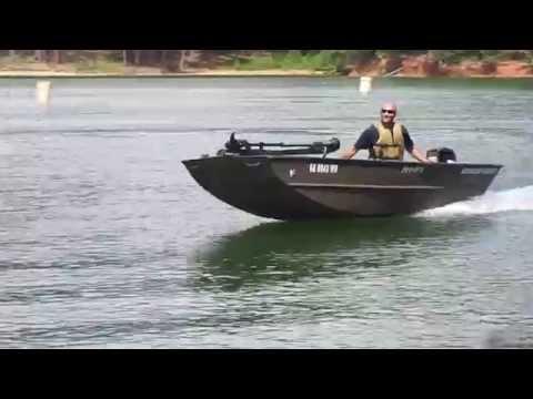 Jon boat paired with Mercury 20 HP.