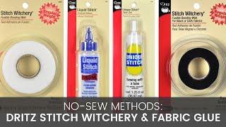 No Sew Methods: Comparing Stitch Witchery & Fabric Glue