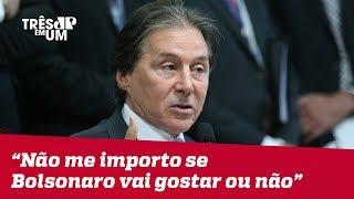 """Eunício """"não está preocupado"""" se Bolsonaro """"vai gostar ou não"""" do resultado das votações"""