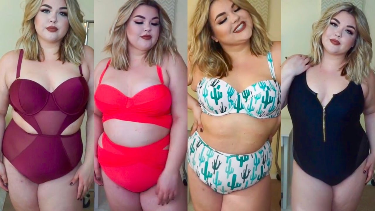 NEW PLUS SIZE SWIMWEAR HAUL 2017 - YouTube