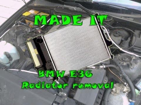 BMW E36 radiator removal