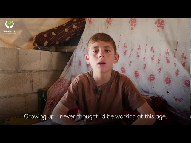 Stories in Syria - Working 11 Year Old