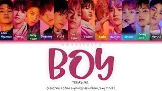 TREASURE(보물) - BOY (소년) [Color coded lyrics|Han|Rom|Eng]