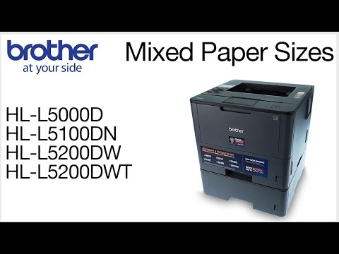 Printing mixed page sizes - Brother HLL5200DW