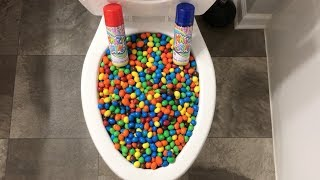 Will it Flush? - M&M's and Silly String