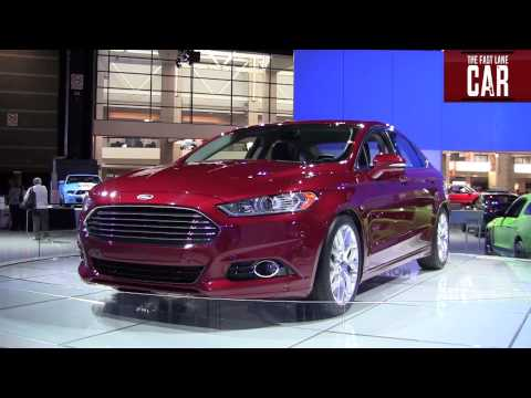 2013 Ford Fusion exposed at the Chicago Auto Show