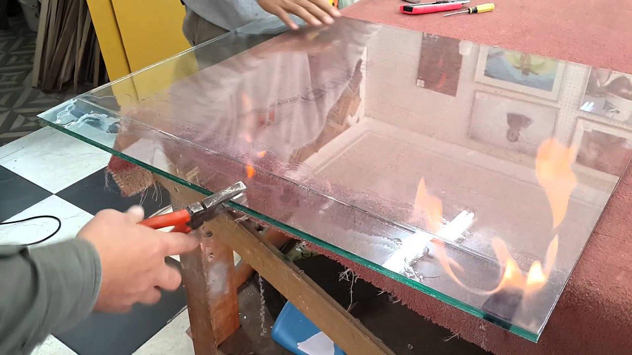 Corte vidrio laminado 4 4 seguridad youtube for Cortar cristal para gatera