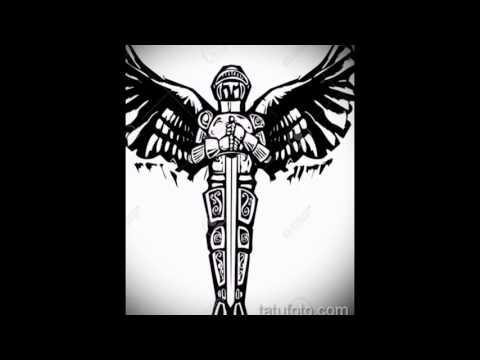 Эскизы для тату архангел Михаил