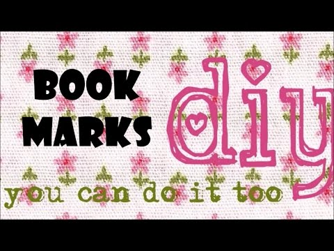 DIY - How to do a bookmark or book page separator