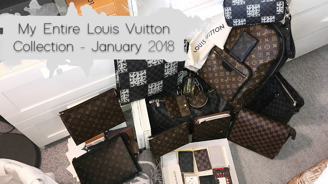 787632e135 My Entire Louis Vuitton Collection - January 2018 - YouTube