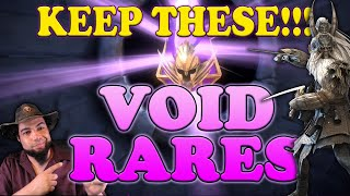 KEEP THESE!!! Void Rares | Raid Shadow Legends