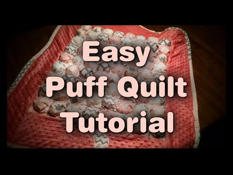 Easy Puff Quilt Tutorial YouTube Best How To Make A Puff Quilt With Sewing Machine