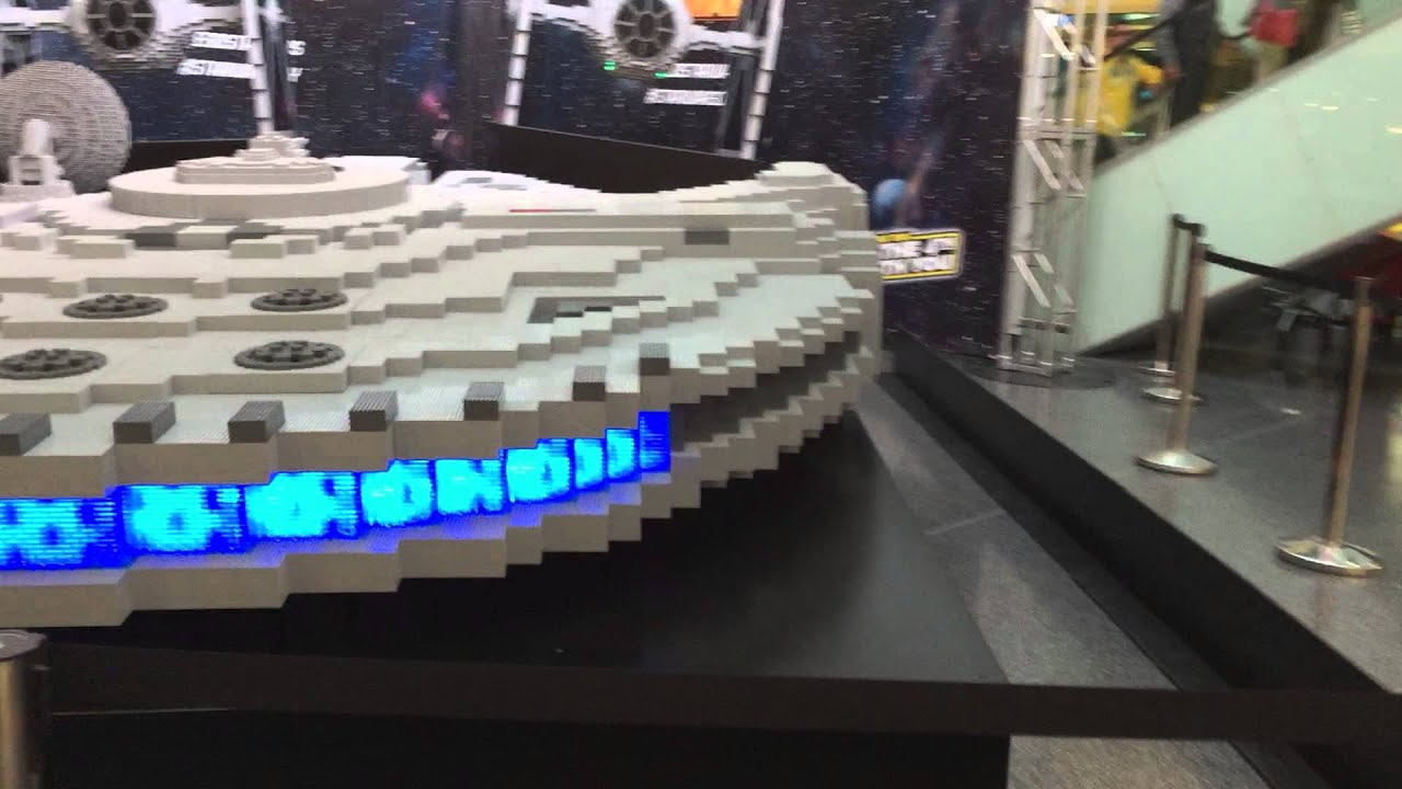 Displaying images for millenium falcon cockpit wallpaper - Giant Lego Millennium Falcon At Southland Shopping Centre