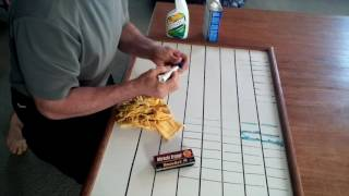 How to Clean a Stained White Board - Dry Erase Marker Removal - Permanent Marker Off Whiteboard
