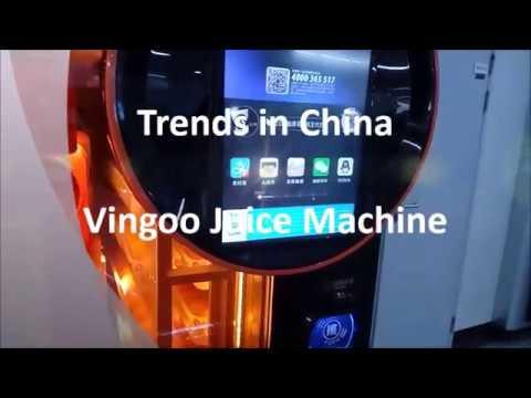 Trends in China - Vingoo Fresh Organge Juice Vending Machine