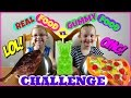 REAL FOOD vs. GUMMY FOOD CHALLENGE - Magic Box Toys Collector