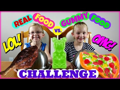 REAL FOOD vs GUMMY FOOD CHALLENGE - Magic Box Toys Collector