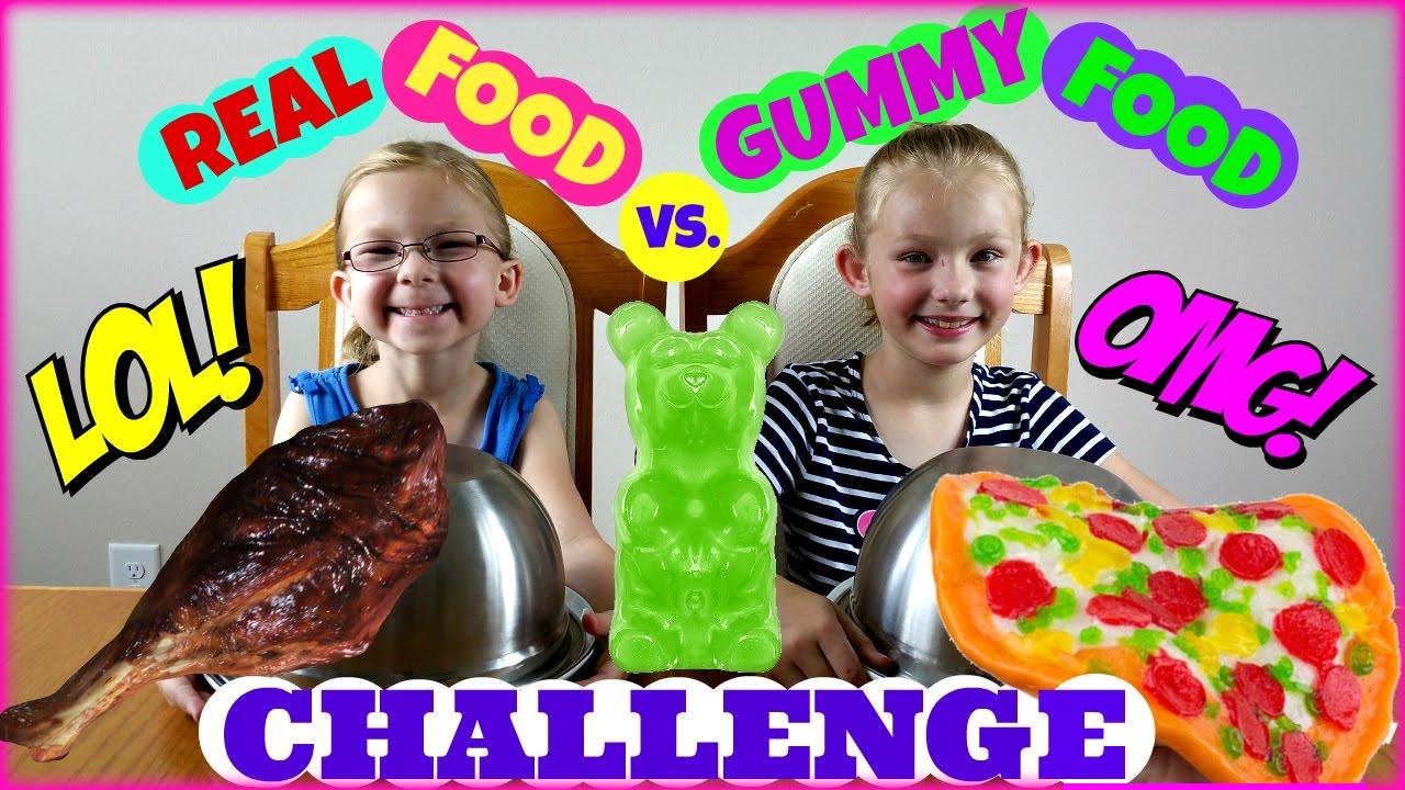 Real Food Vs Gummy Food Challenge Magic Box Toys