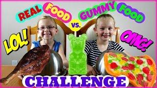 Real Food Vs. Gummy Food Challenge - Magic Box Toys Collector