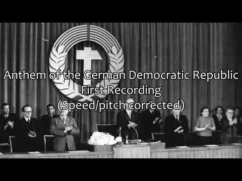 East German Anthem - First Vocal Recording (speed/pitch corrected)