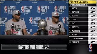 Kawhi Leonard & Kyle Lowry Press Conference | Eastern Conference Finals Game 6