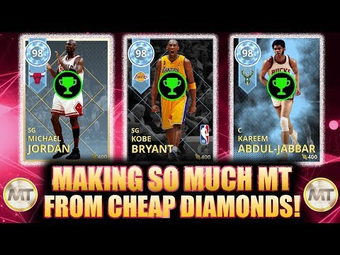MAKING SO MUCH MT RIGHT NOW WITH THESE CHEAP DIAMONDS IN NBA 2K18 MYTEAM