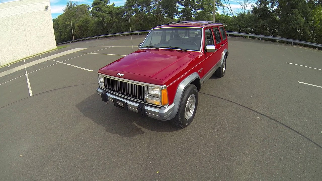 review for 1989 jeep cherokee xj laredo 4x4 63k miles red [ 1280 x 720 Pixel ]