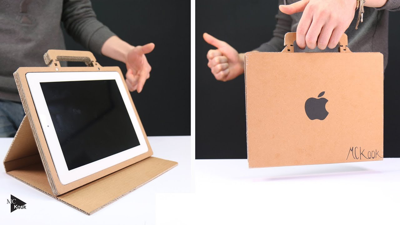How To Make Simple Tablet Stand Case From Cardboard
