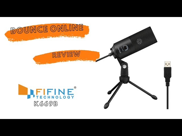 FiFine K669 USB Microphone Review #FiFine #USBmic #Review