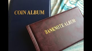 474) Coin / Note collection album unboxing (aliexpress)