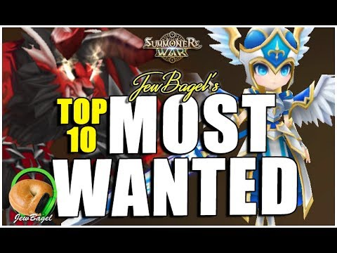 SUMMONERS WAR: JewBagel's TOP 10 MOST WANTED Nat 5 Monsters