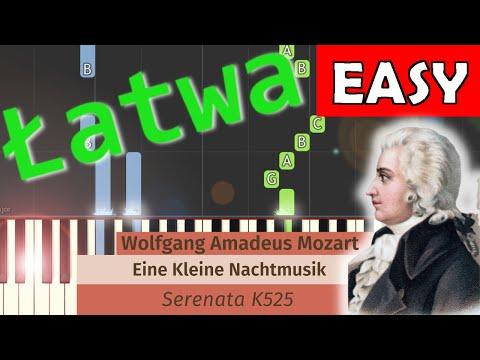 🎹 Eine Kleine Nachtmusik (W. A. Mozart) - Piano Tutorial (łatwa wersja) (EASY) 🎹