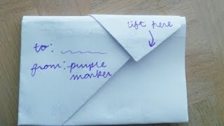 how to fold a note into a secretive envelope cute creative but simple  step by step