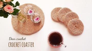 [코바늘 코스터] 사계절용 티코스터,테이블매트 뜨기 노하우 (crochet coaster)