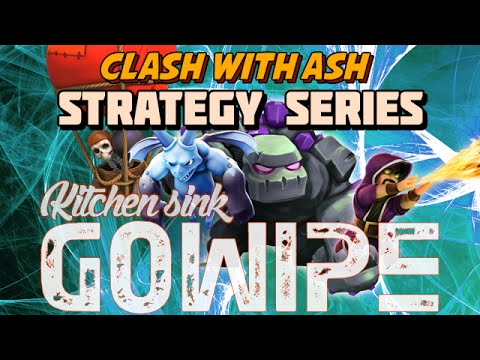 Clash Of Clans - Kitchen Sink GoWiPe (Loonion) Vs Max Base (New Strategy)
