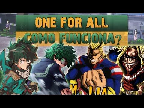 ONE FOR ALL: COMO FUNCIONA? Boku No Hero  Player Solo